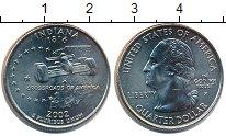Изображение Мелочь США 1/4 доллара 2002 Медно-никель UNC- P. Индиана 1816
