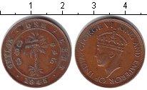 Изображение Монеты Цейлон 1 цент 1945 Медь XF