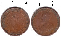 Изображение Монеты Шри-Ланка Цейлон 1 цент 1914 Медь