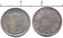 Изображение Монеты Бавария 1 крейцер 1861 Серебро XF