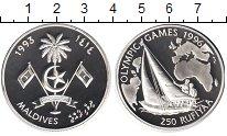 Изображение Монеты Мальдивы 250 руфий 1993 Серебро Proof- Олимпийские игры 199