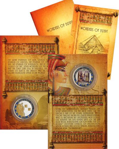 Изображение Подарочные монеты Бенин История Египта 2012 Серебро Proof