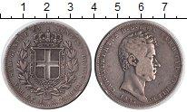 Изображение Монеты Италия Сардиния 5 лир 1835 Серебро VF