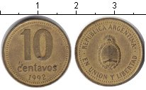 Изображение Дешевые монеты Южная Америка Аргентина 10 сентаво 1992 Медь VF