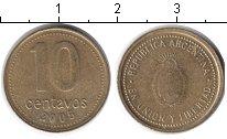 Изображение Дешевые монеты Аргентина 10 сентаво 2005 Медь VF