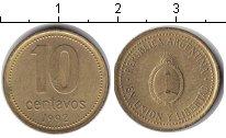Изображение Дешевые монеты Южная Америка Аргентина 10 сентаво 1992 Медно-никель XF