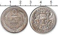 Изображение Монеты Европа Латвия 2 лата 1925 Серебро XF