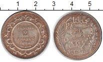 Изображение Монеты Африка Тунис 2 франка 1908 Серебро XF