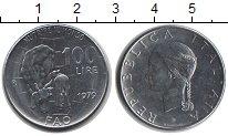 Изображение Мелочь Италия 100 лир 1979 Медно-никель UNC- ФАО