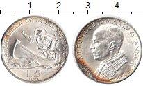 Изображение Монеты Ватикан 5 лир 1940 Серебро XF Пий ХII