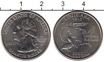 Изображение Мелочь США 1/4 доллара 2002 Медно-никель UNC- Луизиана 1812. D