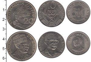 Изображение Наборы монет Заир Заир 1976-1978 0 Медно-никель UNC-