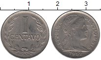Изображение Мелочь Южная Америка Колумбия 1 сентаво 1952 Медно-никель XF