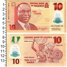 Изображение Банкноты Нигерия 10 найра 2013 Пластик UNC