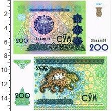 Изображение Банкноты Узбекистан 200 сум 1997  UNC
