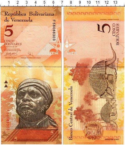 Изображение Банкноты Венесуэла 5 боливар 2007  UNC