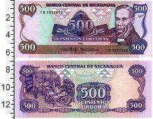 Изображение Банкноты Никарагуа 500 кордоба 1985  UNC