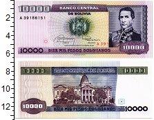 Изображение Банкноты Боливия 10000 песо 1984  UNC