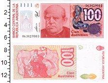 Продать Банкноты Аргентина 100 аустралес 0