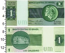 """Изображение Банкноты Бразилия 1 крузейро 0  UNC Скульптура """"Республи"""