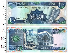 Изображение Банкноты Ливан 1000 ливр 1990  UNC