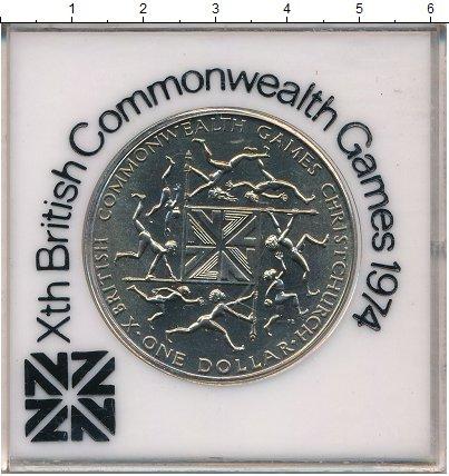 Изображение Мелочь Новая Зеландия 1 доллар 1974 Медно-никель UNC