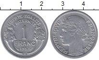 Изображение Мелочь Франция 1 франк 1957 Алюминий XF