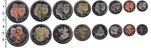 Изображение Наборы монет Нидерланды Бонайре Бонайре 2011 2011  UNC-