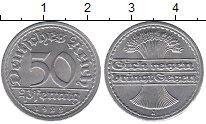 Изображение Мелочь Веймарская республика 50 пфеннигов 1920 Алюминий XF