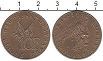 Изображение Мелочь Франция 10 франков 1988 Бронза UNC-