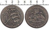 Изображение Мелочь Северная Америка Доминиканская республика 4 доллара 1970 Медно-никель XF