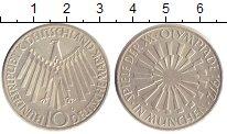Изображение Мелочь ФРГ 10 марок 1972 Серебро UNC-