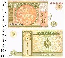 Изображение Банкноты Монголия 1 тугрик 2008  UNC