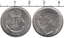 Изображение Мелочь Европа Люксембург 1 франк 1972 Медно-никель XF