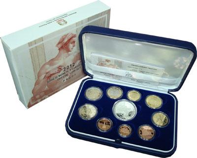 Изображение Подарочные монеты Италия Сикстинская Капелла 2012  Proof