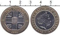 Изображение Мелочь Гернси 2 фунта 1998 Биметалл XF