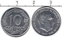 Изображение Мелочь Европа Испания 10 сентим 1959 Алюминий UNC
