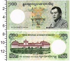 Изображение Банкноты Бутан 100 нгултрум 2006  UNC