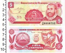 Изображение Банкноты Никарагуа 5 сентаво 0  UNC