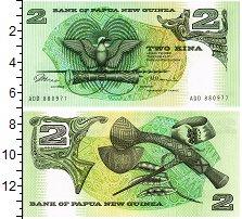 Изображение Банкноты Папуа-Новая Гвинея 2 кины 0  UNC Парламент, герб.Топ