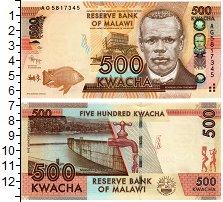 Изображение Банкноты Малави 500 квач 2012  UNC