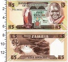 Изображение Банкноты Замбия 5 квач 0  UNC  .