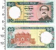 Изображение Банкноты Бангладеш 10 така 0  UNC Портрет президента М