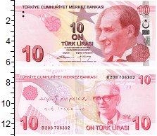 Изображение Банкноты Турция 10 лир 2009  UNC