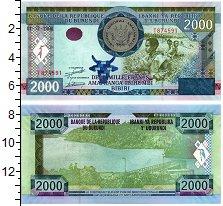 Изображение Банкноты Бурунди 2000 франков 2008  UNC
