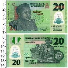 Изображение Банкноты Нигерия 20 найр 2013  UNC /