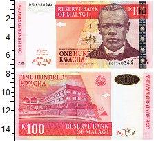 Изображение Банкноты Малави 100 квач 2001  UNC Портрет Д. Чилембве.