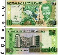 Изображение Банкноты Гамбия 10 даласи 0  UNC