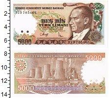 Изображение Банкноты Турция 5000 лир 0  UNC