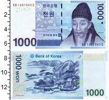 Изображение Банкноты Южная Корея 1000 вон 1983  UNC Портрет Ли Хвана.